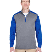 Adult Cool & Dry Sport Two-Tone Quarter-Zip Pullover