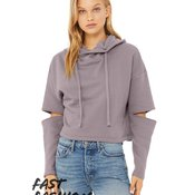 Fast Fashion Women's Cut Out Fleece Hoodie